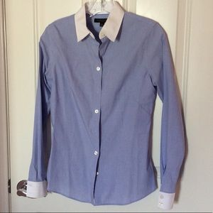 Banana Republic Blue Button Down with White Collar